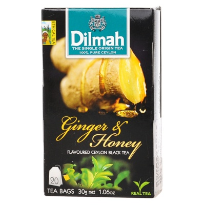 Dilmah Black Ginger & Honey Tea 20*1.5g