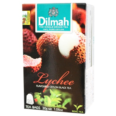 Dilmah Lychee Flavoured Ceylon Black Tea 20*1.5g