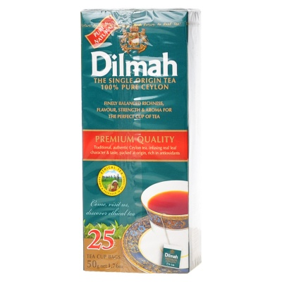 Dilmah 100% Pure Ceylon Single Original Tea 25*2g