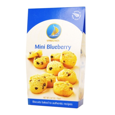 Spinnaker Mini Blueberry Cookies 70g