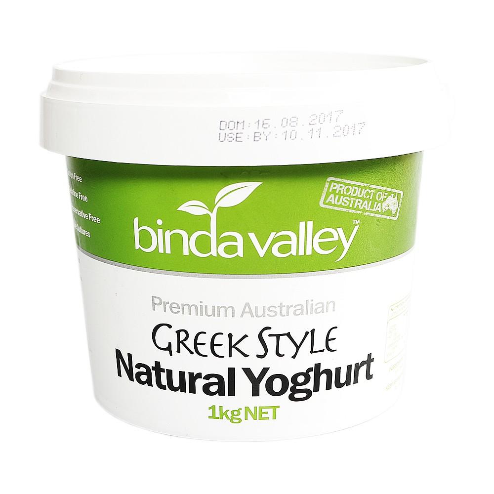 Bindavalley Greek Style Natural Yoghurt 1kg