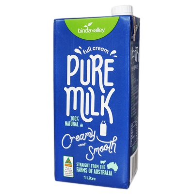 Binda Valley Full Cream Pure Milk 1L