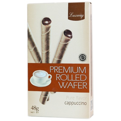 Luxway Cappuccino Premium Rolled Wafer 48g