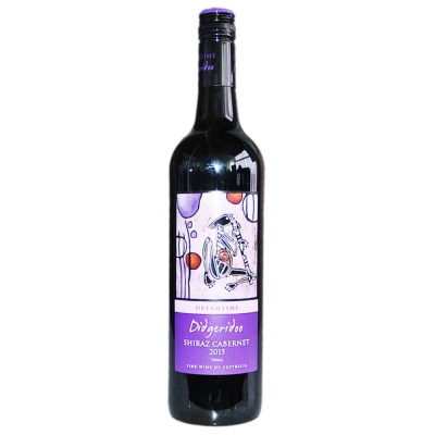 Didgeridoo Shiraz Cabernet Red Wine 750ml