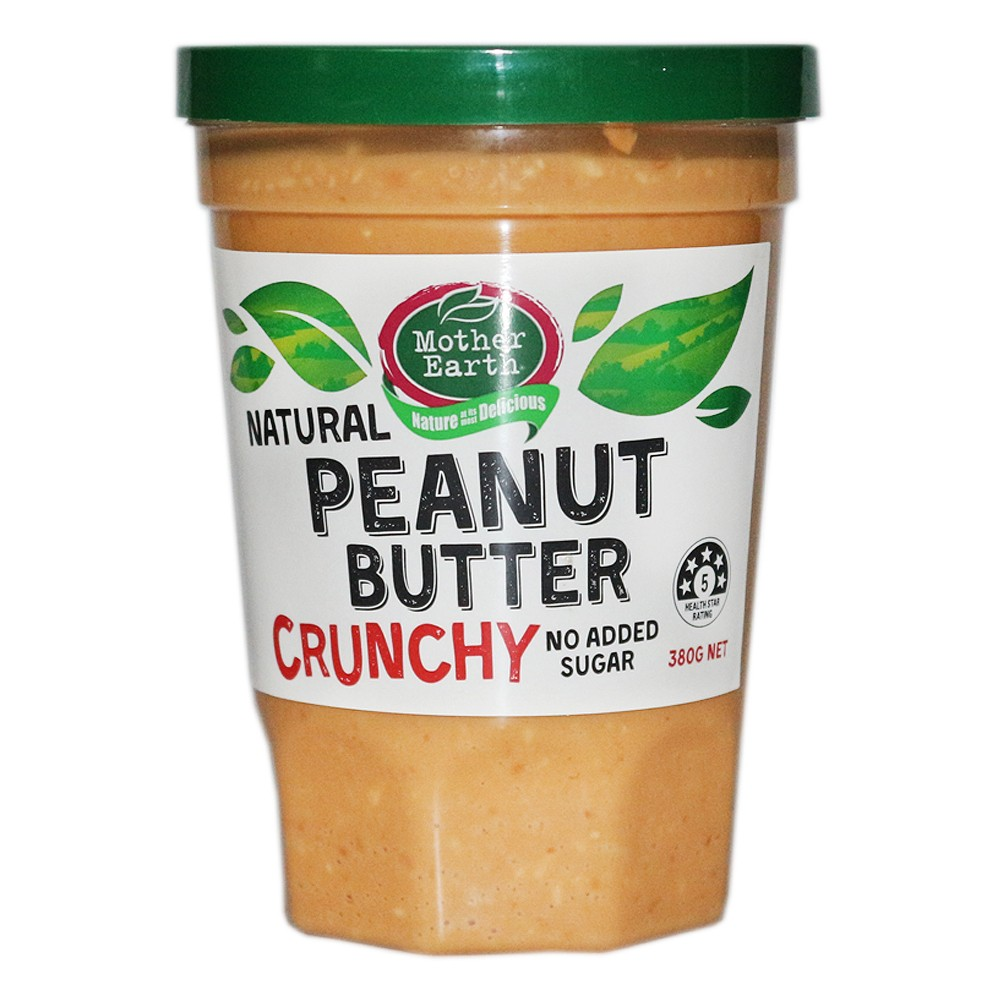Mother Earth Natural Peanut Butter Crunchy 380g