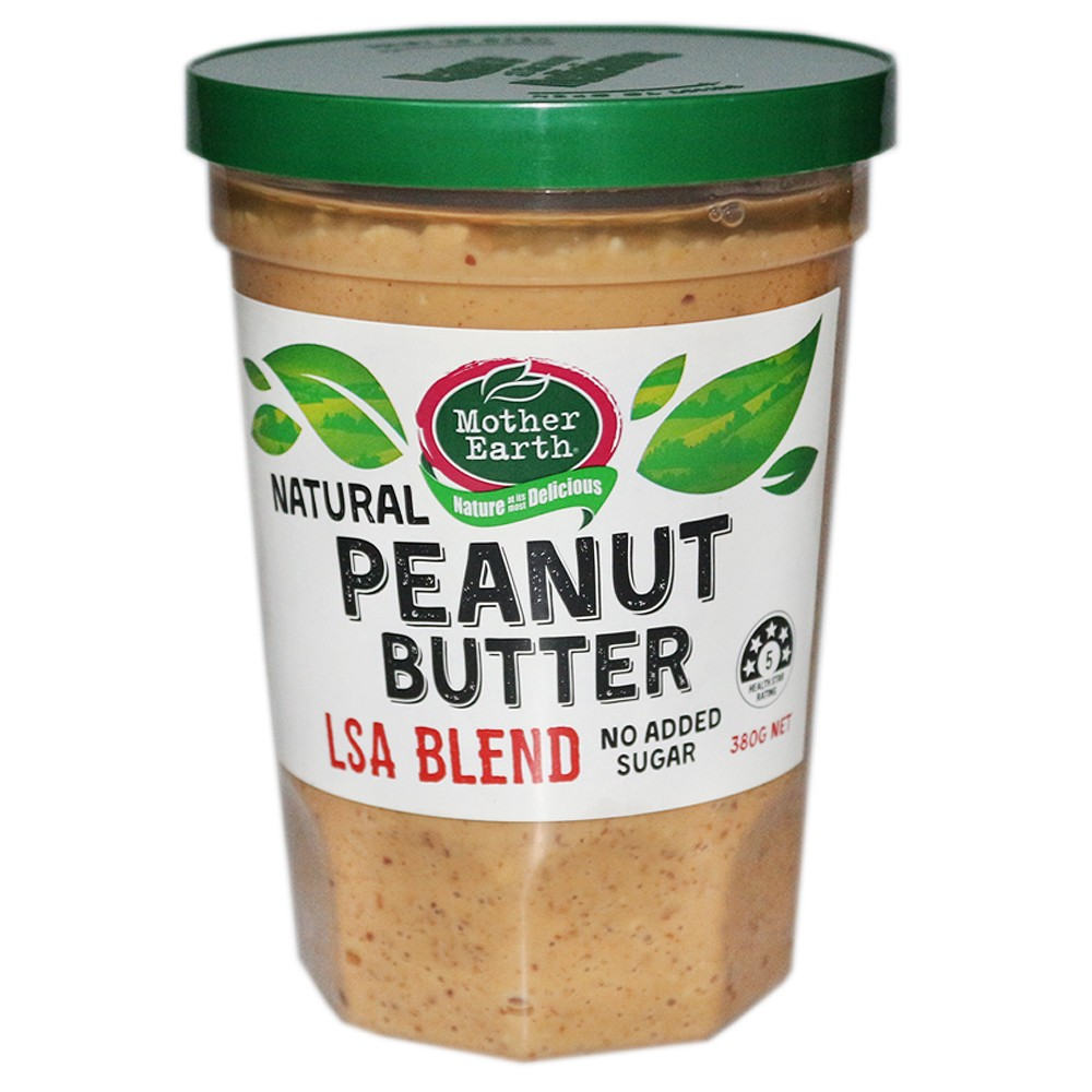 Mother Earth Natural Peanut Butter 380g