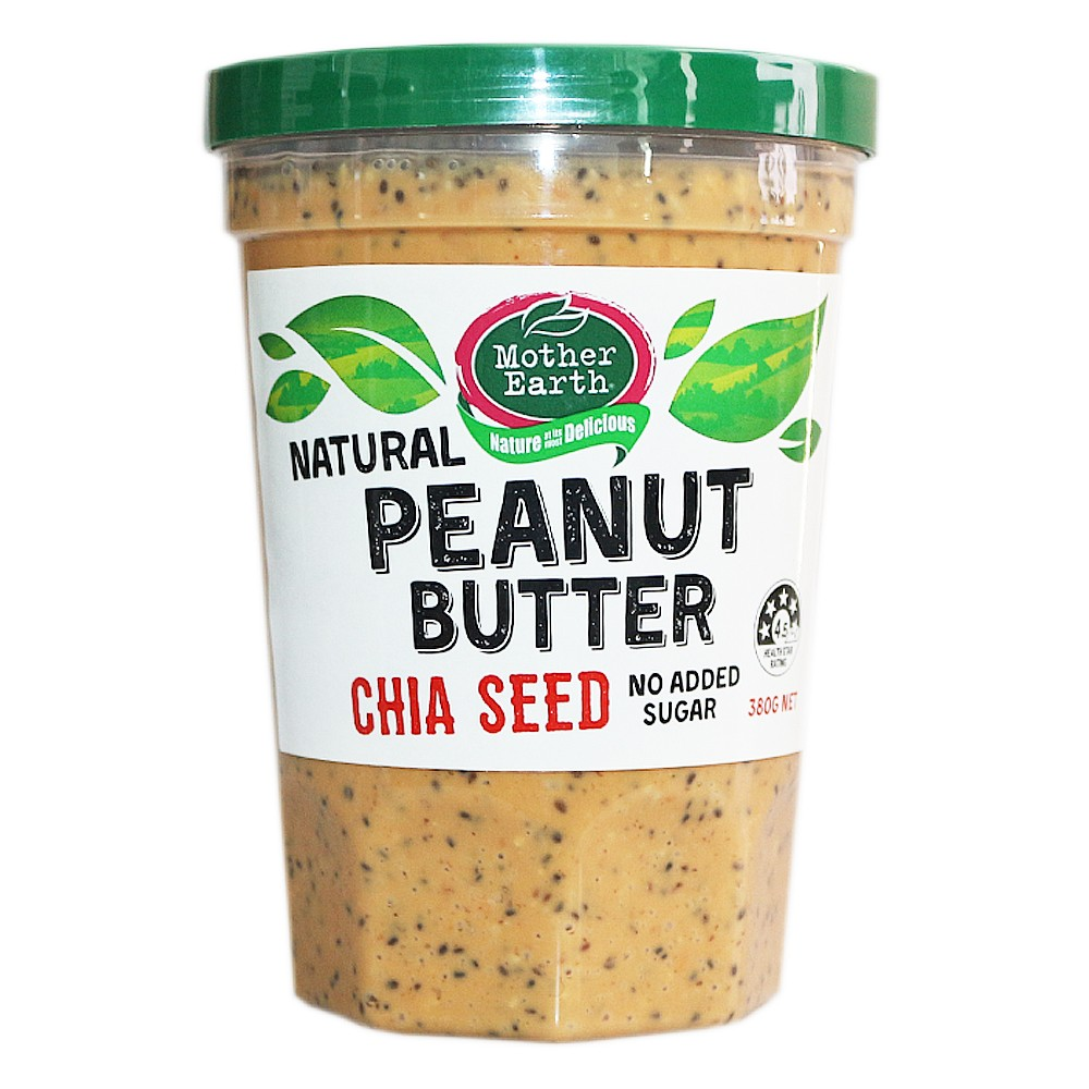 Mother Earth Natural Peanut Butter (Chia Seed) 380g