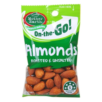 Mother Earth Almonds Roasted&Unsalted 60g