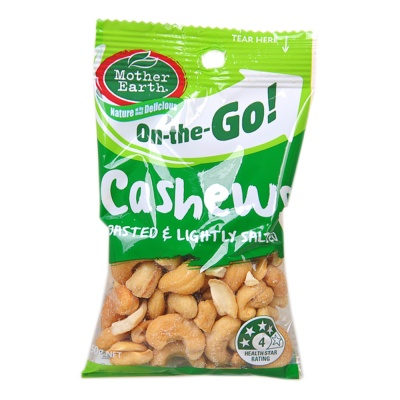 Mother Earth On-the-Go Cashews 60g