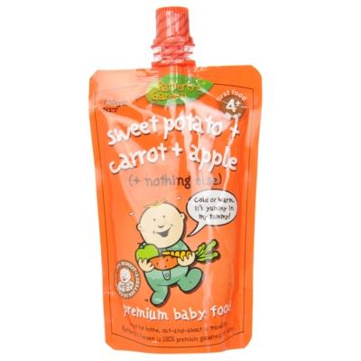 1L000083 Rafferty's Garden Infant Apple & Sweet Potato & Carrot Puree 4+ 120g