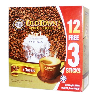 Old Town 3 In 1 White Coffee Classic 12*40g