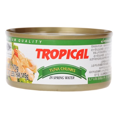 Tropical Tuna Chunks In Spring Water 170g