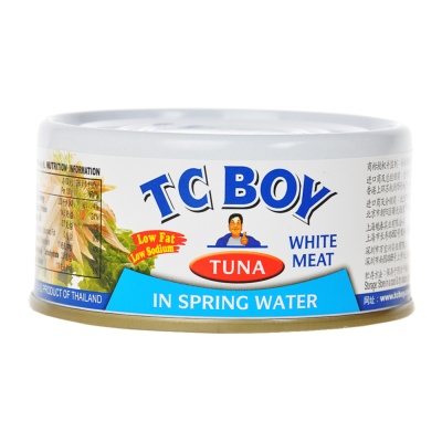 Tc Boy Solid White Meat Tuna In Spring Water 180g