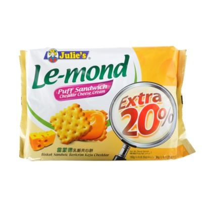 Julie's Le-mond Cheddar Cream Biscuits 180g