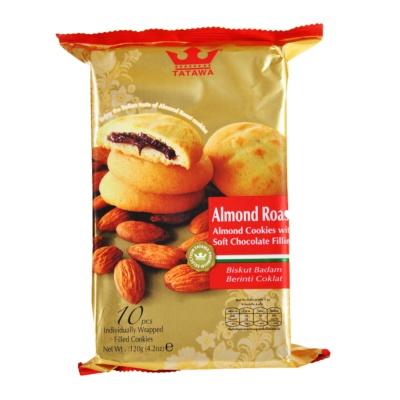 Tatawa Almond Roast (Almond Cookies with Soft Chocolate Filling) 120g