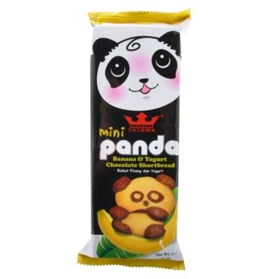 Tatawa Mini Banana & Yogurt Chocolate Panda Shortbread 120g
