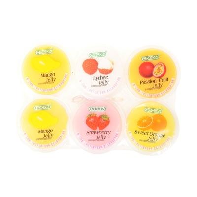 可康多口味果冻(含椰纤果)芒果.荔枝.石榴.草莓.橙子 6*80g