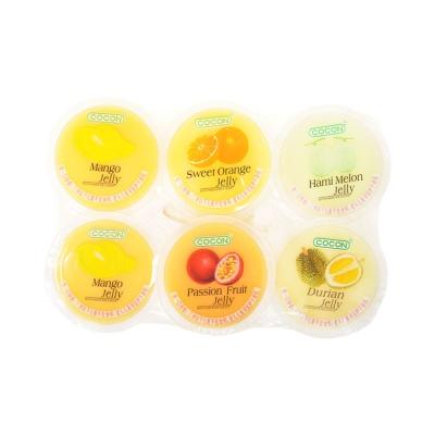 可康牌多口味果冻(含椰纤果)芒果,甜橙,西番莲,哈密瓜,榴莲 6*80g
